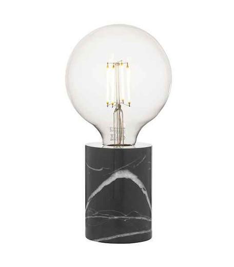 Jaxon Marble & Black Table Lamp
