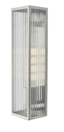 Keegan 1 Light Polished Stainless Steel IP44 Bathroom Wall Light