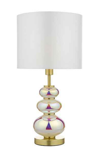 Kiandra Multi Coloured Tinted Glass With Shade Table Lamp