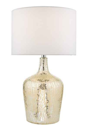 Lolek Silver Glass with Shade Table Lamp