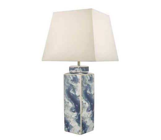 Loyce Blue and Ceramic Table Lamp Base Only
