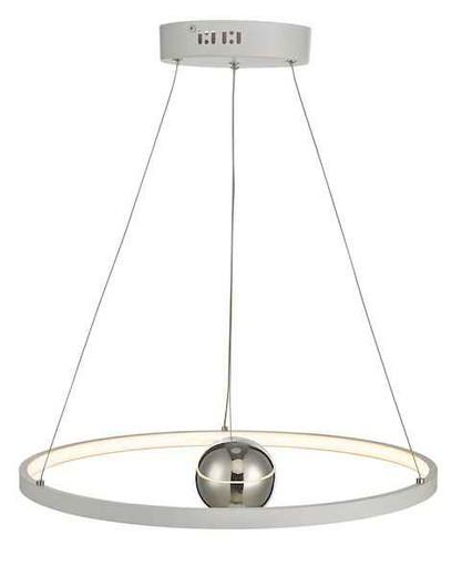Mercury Horizontal White LED Ring Pendant light
