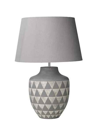 Mulan Ceramic and Grey Base Only Table Lamp