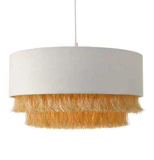 Olgia Ivory & Gold Easy Fit Pendant Light