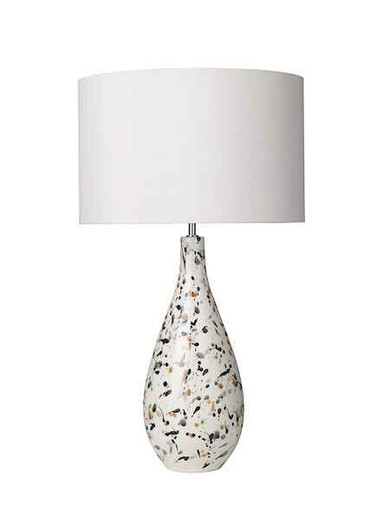 Olka Ceramic & Brown Table Lamp Base Only