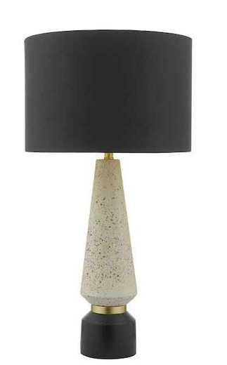 Onora White and Black with Shade Table Lamp