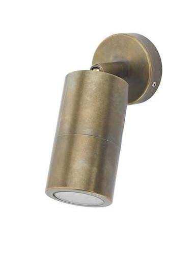 Ortega 1 Light Antique Brass IP65 Wall Light