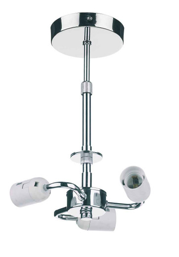 Accessory 3 Light Polished Chrome Semi Flush Pendant Lighting Suspension