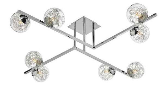 Taghrid 8 Light Polished Chrome Semi Flush Ceiling Light