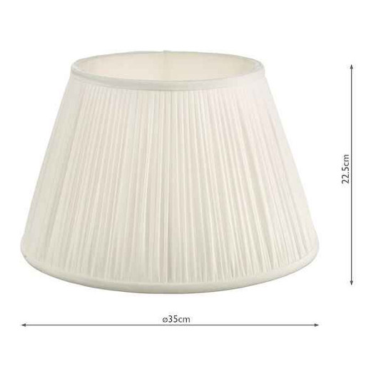 Ulyana 35cm Ivory Pleated Shade Only