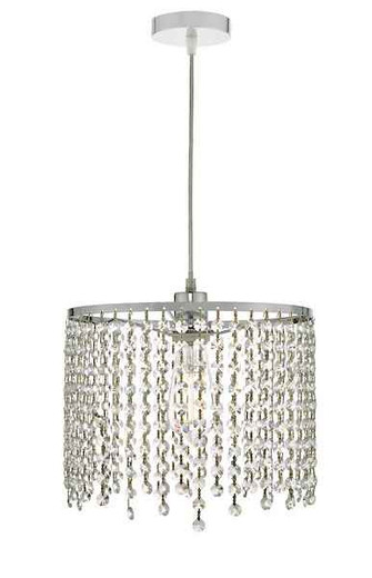 Yiannis Clear Crystal Easy Fit Pendant Light