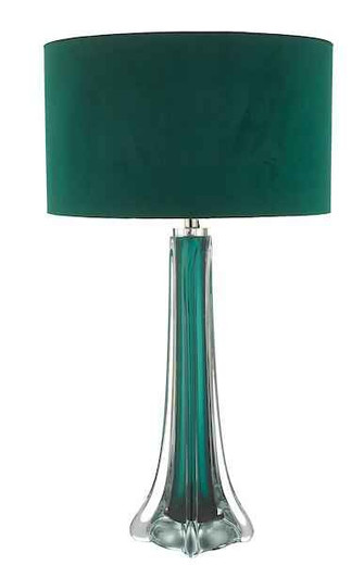 Yoshi  Green and Clear Glass Table Lamp Base Only