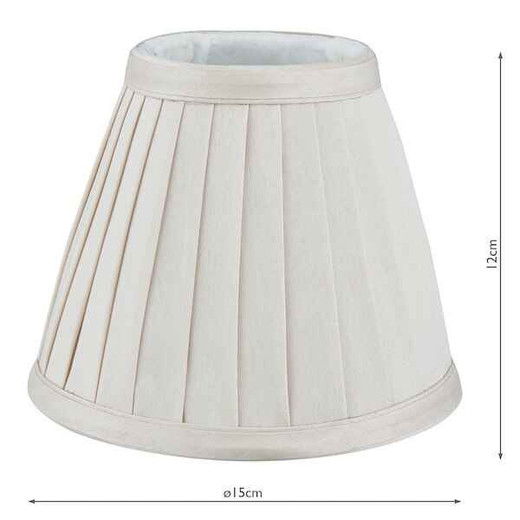 Yovanna 15cm Ivory Faux Silk Pleated Light Shade Only