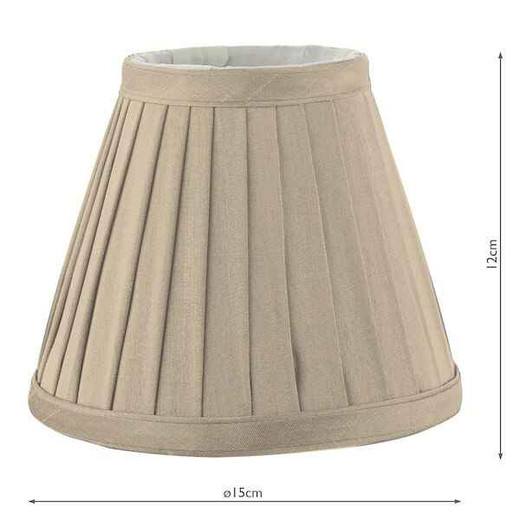 Yovanna 15cm Taupe Pleated Shade Only