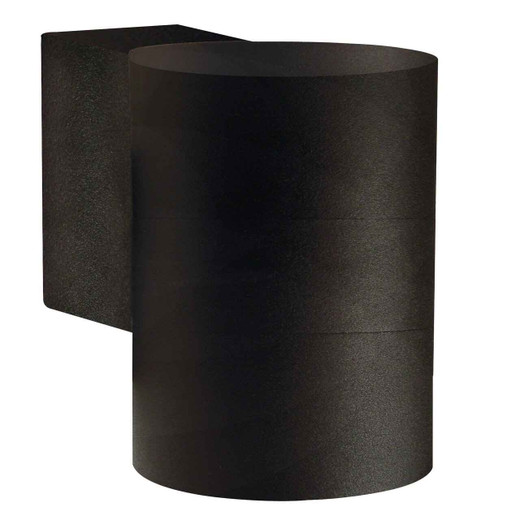 Tin Maxi Black with Clear Glass Wall Light