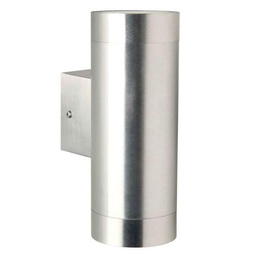 Tin Maxi Aluminium with Clear Glass Outdoor Double Wall Light