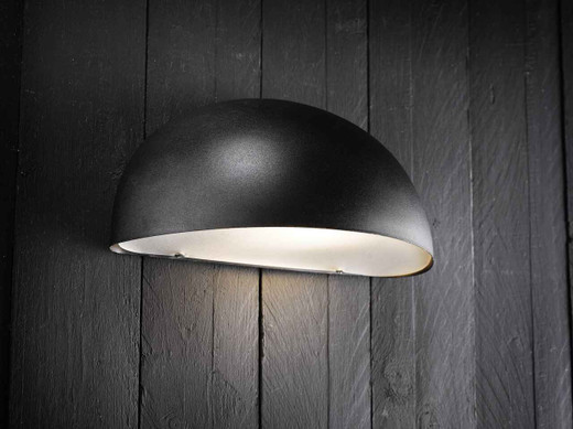 Scorpius Maxi Black Steel with Satinated Glass Wall Light