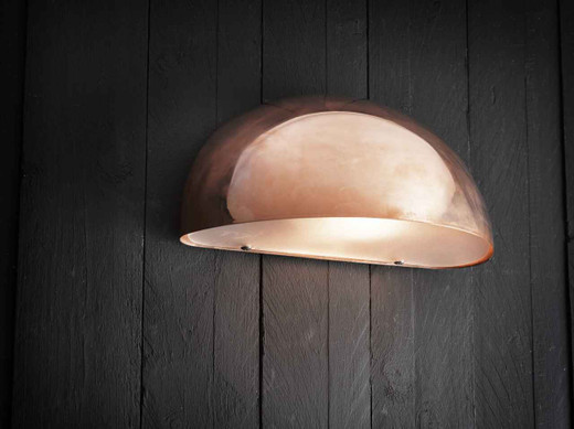 Scorpius Maxi Copper with Satinated Glass Wall Light