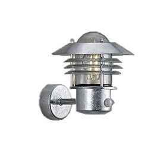 Vejers Sensor Galvanized Steel Clear Wall Light