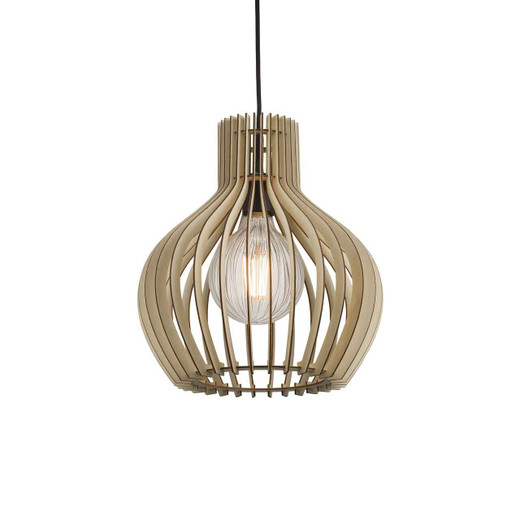 Groa 30 Brown Wood Pendant Light