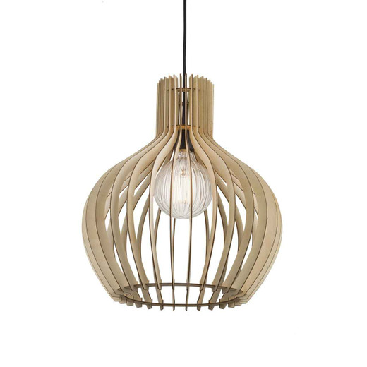 Groa 40 Brown Wood Pendant Light