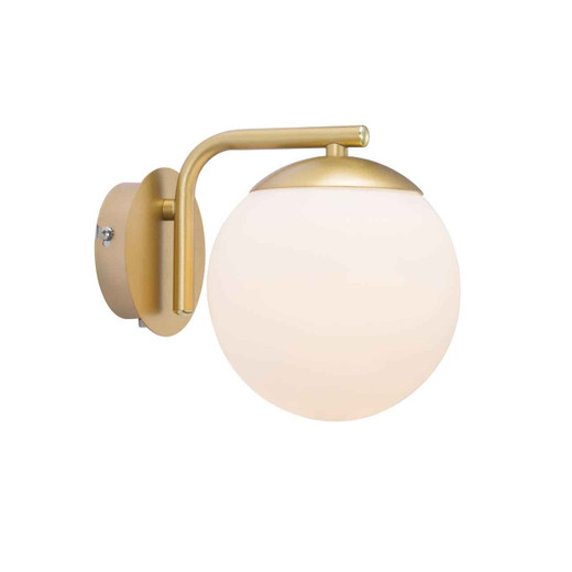 Grant Brass with Opal White Glass Wall Light