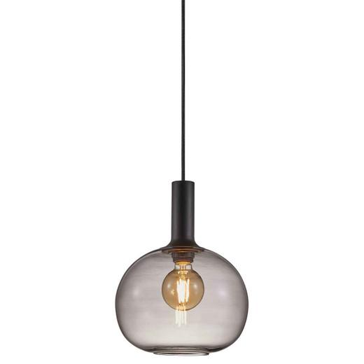 Alton 25 Black with Smoked Glass Pendant Light