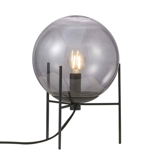 Alton Black with Smoked Glass Table Lamp