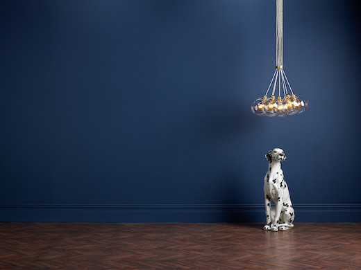 Apollo 7 Light Butter Brass with Glass Shades Pendant Light
