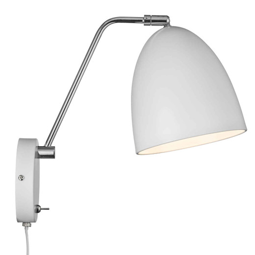 Alexander White Adjustable with Switch Wall Light