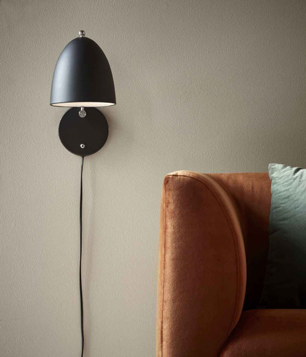 Alexander Black Adjustable with Switch Wall Light