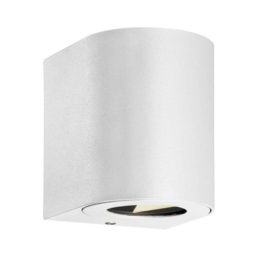 Canto 2 LED IP44 Up/Down White with Clear Glass Wall Light