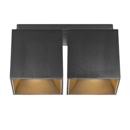 Nordlux Ethan Black with Gold Reflector Twin Surface Downlight