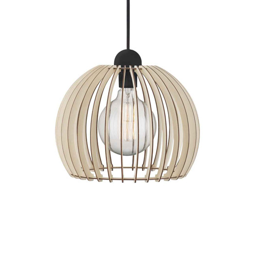 Chino 30 Brown Shade with Black Suspension Pendant Light