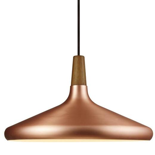 DFTP Nori 39 Copper With Wood Pendant Light