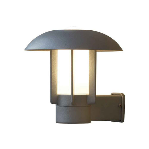 Heimdal Grey with Frosted Glass Outdoor IP44 Wall Light