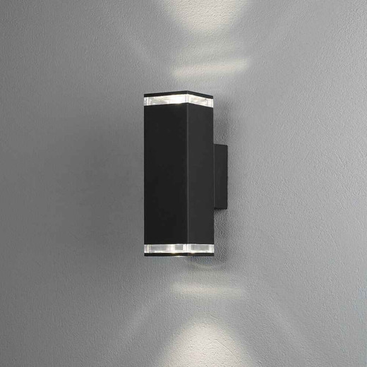 Antares Down Black with Acrylic Outdoor IP44 Wall Light