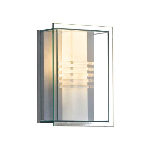 Sol Grey with Opal and Clear Glass Outdoor IP44 Wall Light