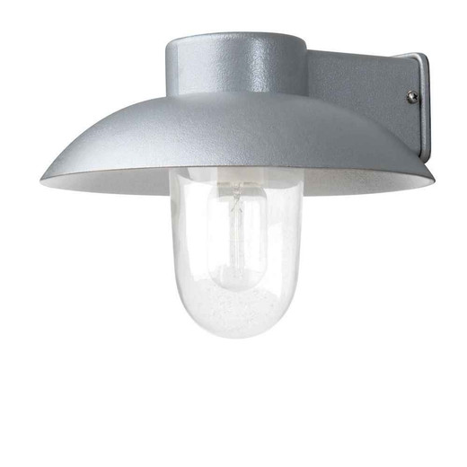 Mani Grey with Clear Glass Outdoor IP44 Wall Light