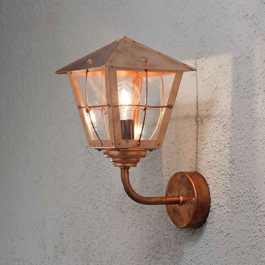 Fenix Copper with Clear Glass Outdoor IP23 Wall Light