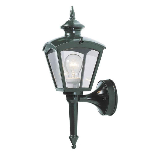 Cassiopeia Shiny Green with Clear Glass Outdoor IP23 Wall Light