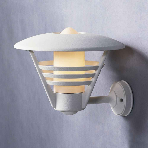 Gemini Matt White with Opal Glass Outdoor IP23 Wall Light