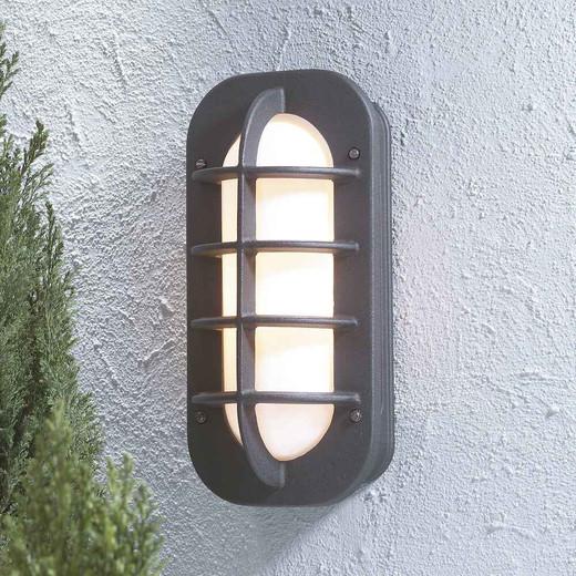 Loke Matt Black with Opal White Glass Outdoor IP23 Wall Light