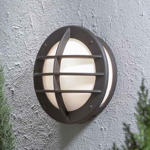 Oden Matt Black with Opal White Glass Outdoor IP23 Wall Light