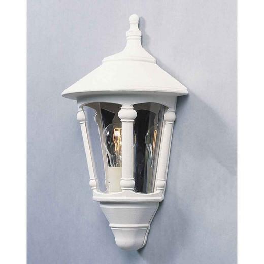 Virgo Matt White Aluminium Flush Half Lantern Wall Light