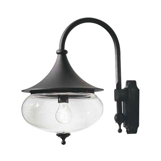 Libra Down Matt Black Aluminium with Acrylic Globe Wall Light