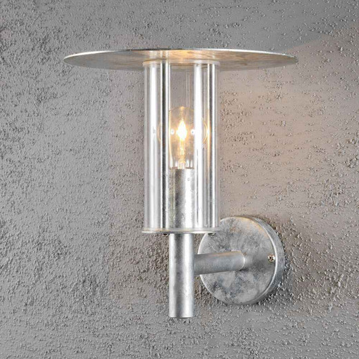 Mode Galvanised Steel with clear PC rough proof IP54 Wall Lamp