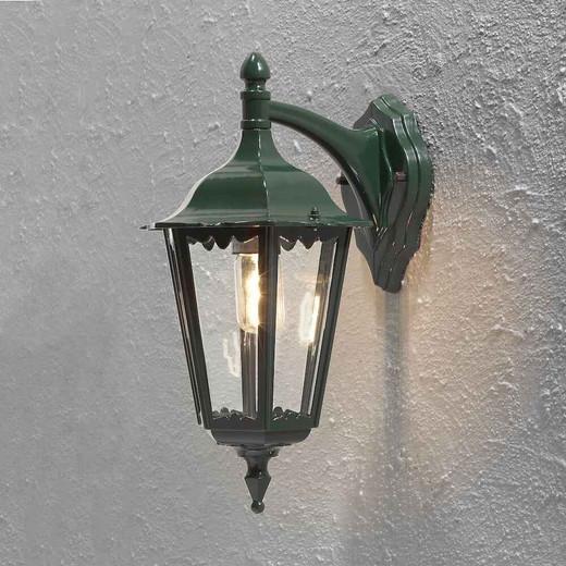 Firenze Down Green Aluminium Wall Light