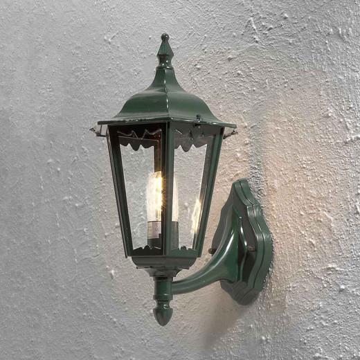 Firenze Up Shiny Green Aluminium with Clear Glass Wall Light