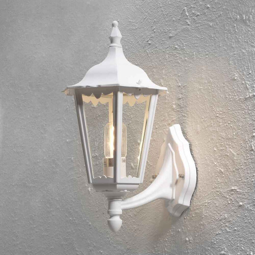Firenze Up Matt White Aluminium Wall Light